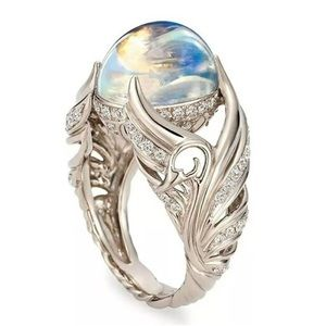 Jewelry - New sterling silver ring moonstone ring